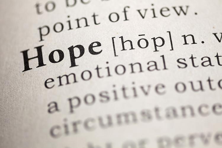windlichter Trauerfeier - Buchseite Duden Wort Hoffnung